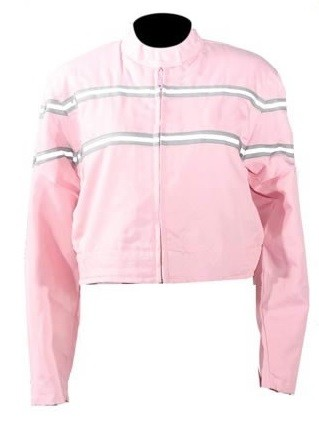 Womens Light Weight Pink Textile Motorcycle Jacket