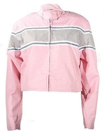 Womens Pink/Gray Textile Motorcycle Jacket