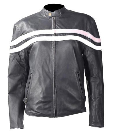 Womens Reversible Leather Motorcycle Jacket