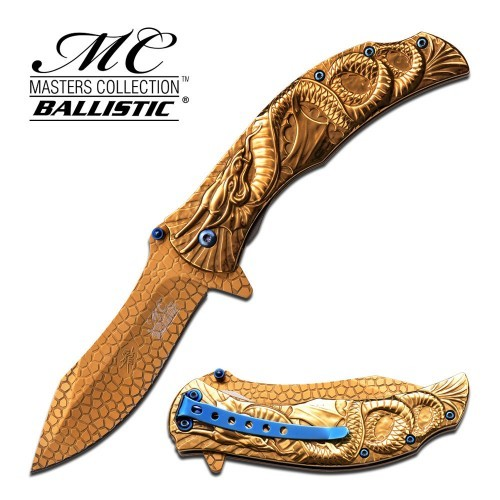 Spring Assist Dragon Folding Knife