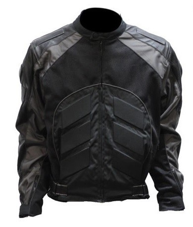Black and Gray Armored Motocross Motorcycle Racing Jacket
