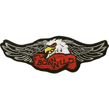 Born Wild Eagle Wings Motorcycle Jacket Patch