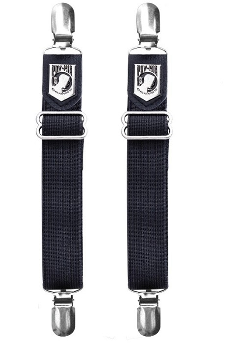 POW/MIA Motorcycle Boot Pant Clips