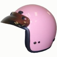 DOT Pink 3/4 Open Face Motorcycle Helmet with Visor