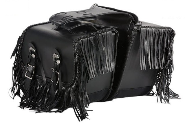 PVC Motorcycle Saddlebags With Fringes