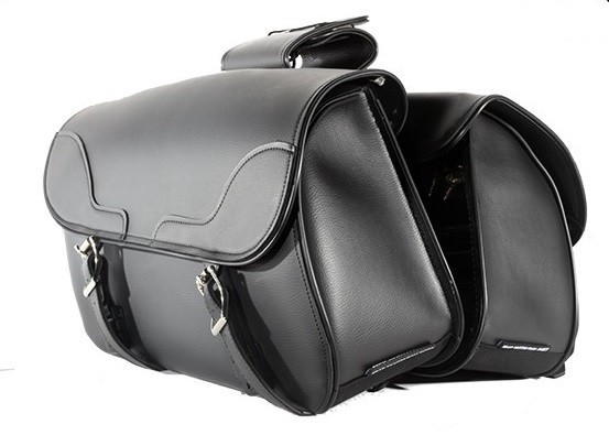 Motorcycle Saddlebags With Stylish Braid Accents