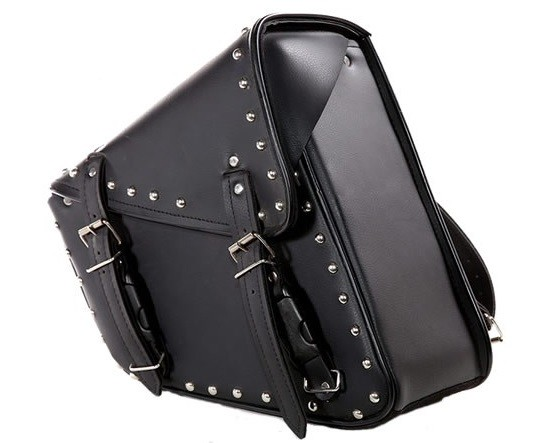 Studded Motorcycle Swing Arm Bag