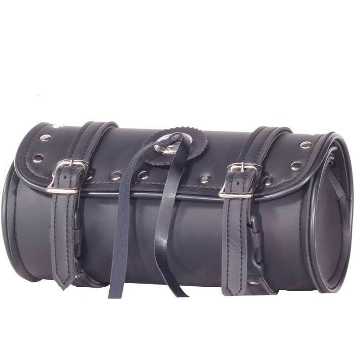 Motorcycle Tool Bag With Shiny Studs and Concho