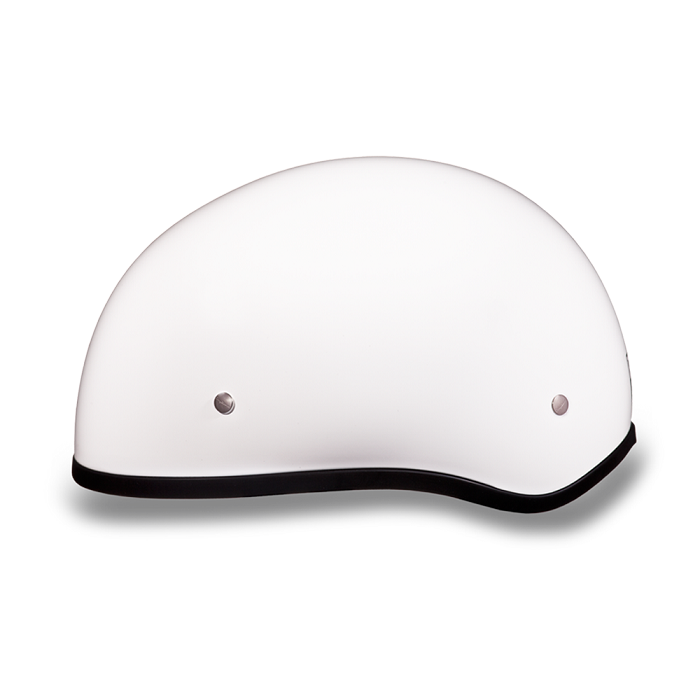 DOT White Motorcycle Half Helmet without Visor