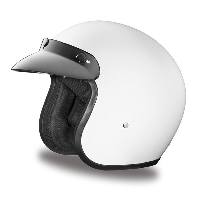 DOT White 3/4 Open Face Motorcycle Helmet
